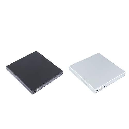 IPOTCH 2 Pieces External USB DVD CD RW Disc Writer Burner Player Drive for Laptop