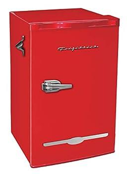 Frigidaire Retro Bar Fridge Refrigerator with Side Bottle Opener 3.2 cu ft Red