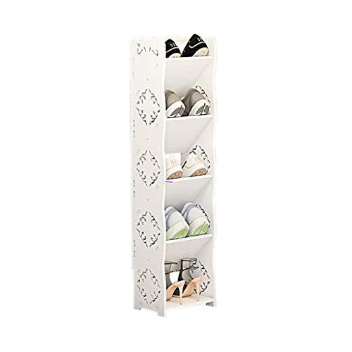 HLL Puerta de entrada del hogar europeo simple pequeño zapatero económico mini multi-capa gabinete de zapatos estrecho ahorra espacio, 23 x 17 x 91 cm, 23 x 17 x 91 cm