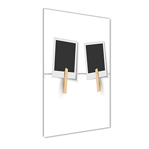 Tulup Impresión en Vidrio - 60x120cm - Cuadro sobre Vidrio - Pinturas en Vidrio - Cuadro en Vidrio - Impresiones sobre Vidrio - Cuadro de Cristal - Otro - Negro - Marcos De Fotos