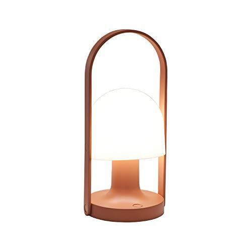 FollowMe colors - Lámpara LED con batería, Terracota lacada.