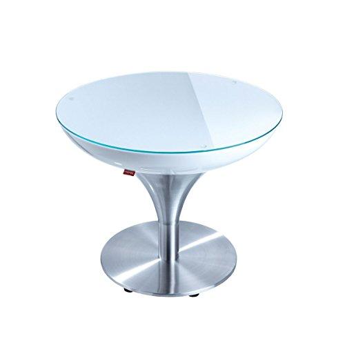 Moree lounge table lounge MX 45, métallique/Blanc, Aluminium et plastique, 27 – 01 – 45