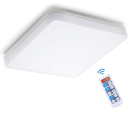 Oeegoo LED Deckenleuchte mit Bewegungsmelder, 15W 1500LM LED Deckenlampe mit Bewegungsmelder, IP44 Sensorleuchte, Sensor Lampe für Garage, Lager, Balkon, Flur, Badezimmer, Keller, Treppen, 4000K