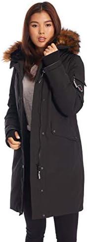 Alpine North Womens Vegan Down Long Parka Winter Jacket product image