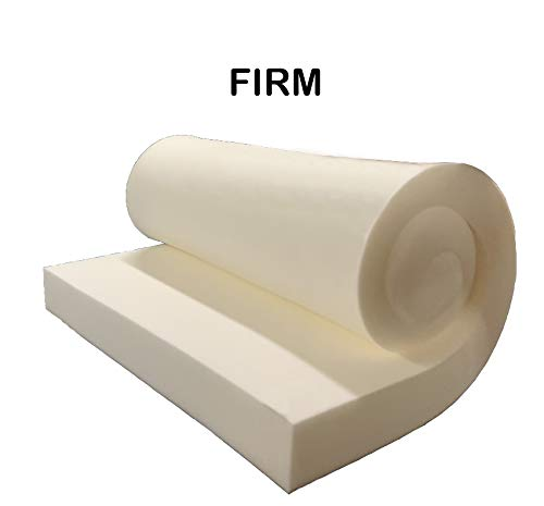 "GoTo Foam 2"" Height x 24"" Width x 72"" Length 44ILD (Firm) Upholstery Cushion Made in USA"