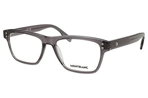 Montblanc MB 0125O 008 - Gafas rectangulares (plástico, 55 mm), color gris