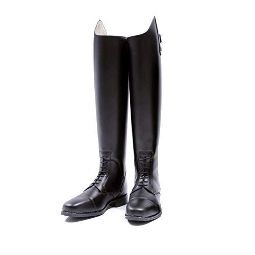 Lederreitstiefel Hobo Scorpio Zip Ristschnürung Größe/Farbe 38 LE/schwarz