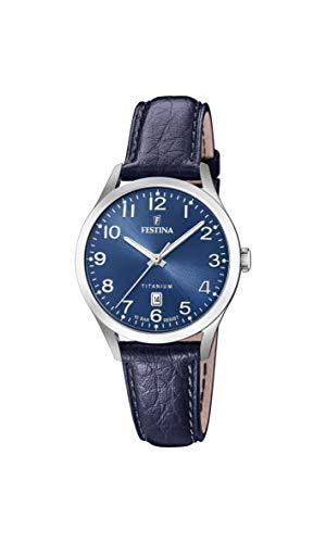 Festina Damen Analog Quarz Uhr mit Leder Armband F20469/2