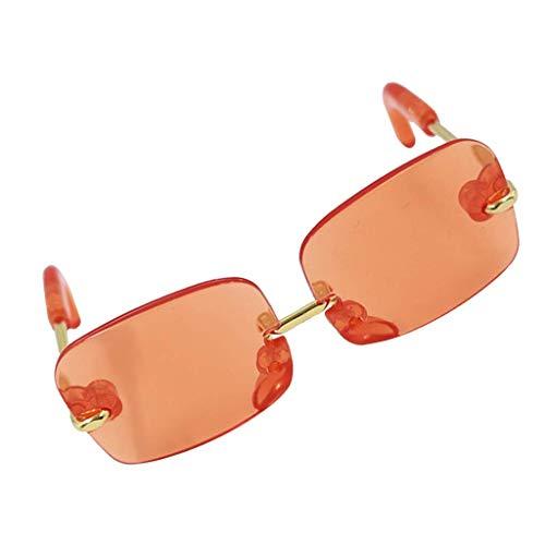 WSDSX Gafas de sol Gafas de sol de moda con montura de plástico Gafas de sol para 12 pulgadas Blythe Girl My Life Our Generation Dolls Orange