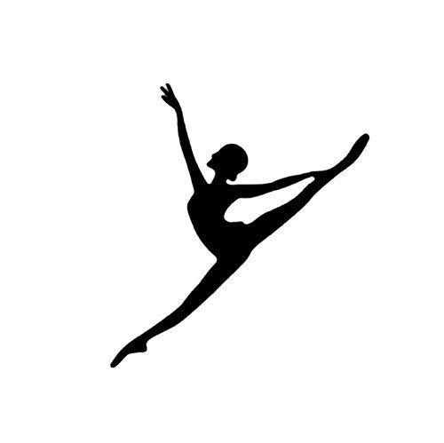 Kllomm 3 Stück 12,2 * 13,4 cm Coolste Aerobic-Übungen Gymnastik Tanzen Dekor Auto Aufkleber VinylBewegung