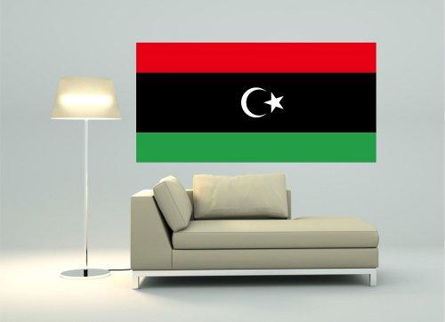 Kiwistar Wandtattoo Sticker Fahne Flagge Aufkleber Libyen 120 x 60cm
