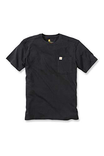 Carhartt Sportswear - Mens Carhartt Maddock 101125.001.S004T-Shirt mit Tasche, Größe S, Schwarz