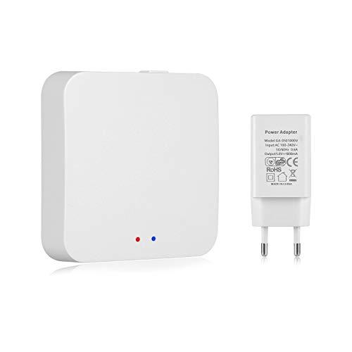 TEEKAR Tuya ZigBee Gateway, Smart Gateway Hub Compatible con Todos los Dispositivos Inteligentes ZigBee 3.0, App Control Remoto Smart Home Bridge para domótica - Conecta hasta 55 Dispositivos