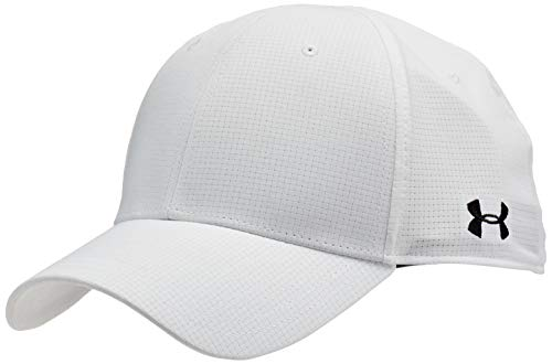 Under Armour Men's Head Referee Cap, White (100)/Black, Medium/Large