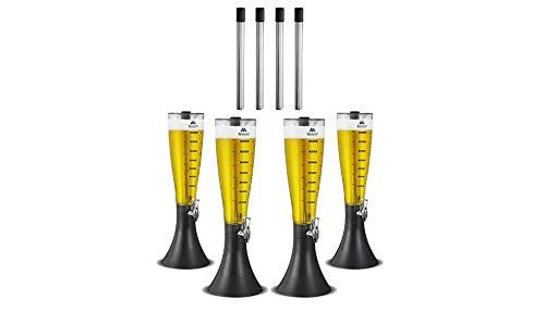 Kit com 4 Torres de Chopp Marcbeer 3,5 Litros e 4 Refis Extra - Marchesoni