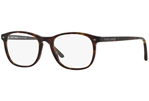 (ジョルジオ アルマーニ) GIORGIO ARMANI メガネフレーム ウェリントン型 マット鼈甲ブラウン 眼鏡 めがね 0AR-7003-5002 [並行輸入品]