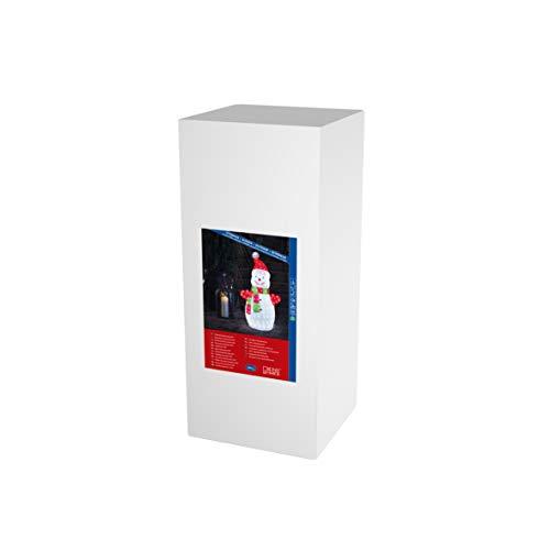 Konstsmide, 6285-203, LED Acryl Schneemann, groß, klar,24V, Aussen (IP44), 200 weiße Dioden, weißes Kabel