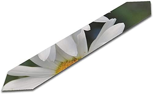 BONRI Camino de Mesa de Billar de 13x90 Pulgadas Daisy Daisies Planta Floral Flor Natural Flor Imprimir Centro de Mesa Camino de Mesa Camino de Mesa Chica para el hogar Cocina Comedor Decoración