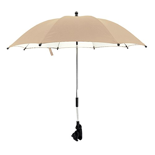 IntiPal Universal Kinderwagenschirm Sonnenschirm Regenschirm für Kinderwagen & Buggy (Khaki)