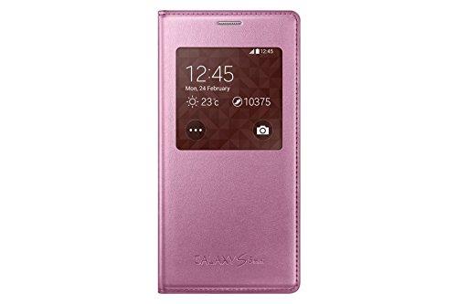 Samsung S-View Hülle Case Cover für Samsung Galaxy S5 Mini - Pink
