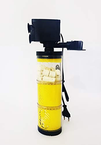 takestop® binnenfilter DN-1503 15W 1800L/H 3 filter spons luchtfilter voor Aquarium Dolce SalATA altijd