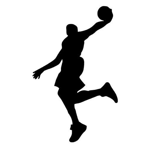 Bonitos pegatinas 10 X 16 cm Deportes Jugadores de baloncesto de la clavada Postura de la cubierta del rasguño del coche pegatinas clásico de cristal de ventana decorativa Adhesivos Bonitos pegatinas