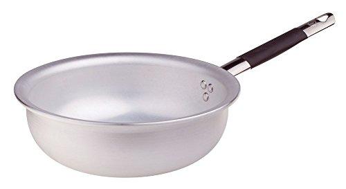 Pentole Agnelli MANTECARE Springen Pasta en Rijst, Radiant, Aluminium, Dikte 5 mm, Koekenpan met Buisvormige Handvat in Cool roestvrij staal, Zilver