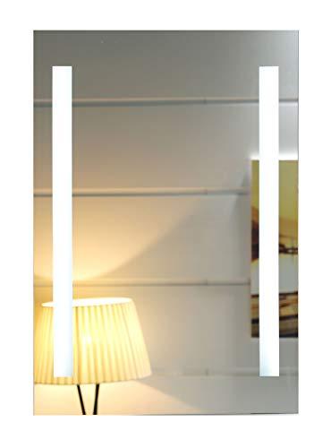LED-Beleuchtung Badspiegel Badezimmerspiegel Hameln GS055N Lichtspiegel Wandspiegel Tageslichtweiß IP44 (40 x 60 cm)