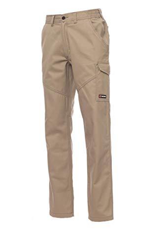 PAYPER Worker Pantalone da Lavoro Unisex Donna Uomo multistagione 100% Cotone Chiusura Zip Tasche Anteriori Laterali Posteriori Porta Metro Bande Reflex (XS)