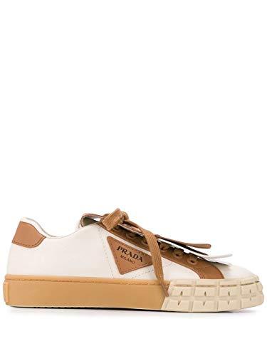 Prada Luxury Fashion Damen 1E943LF0353L48F0J4L Braun Leder Sneakers | Frühling Sommer 20