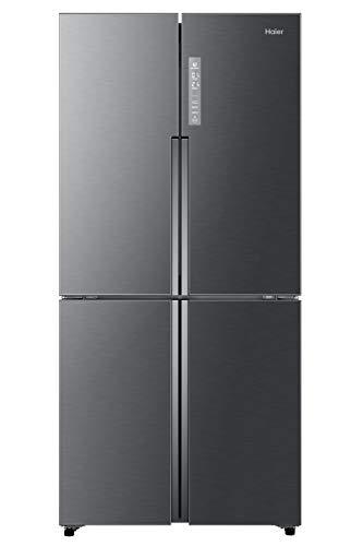 Haier ABT luce UV antibatterica frigorifero 4 porte, 456 Litri, Acciaio