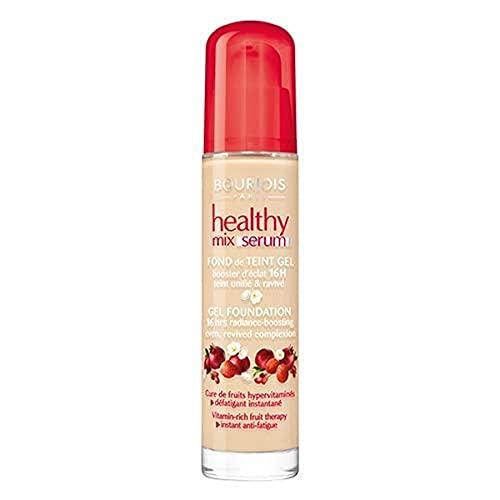 Bourjois Healthy Mix Serum Gel Foundation Fondotinta Effetto 16h Radiante 52 Vanilla, Vanille, 30 Milliliters