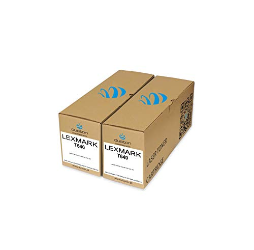 2X 64036HE, 64016HE Schwarz Duston Toner kompatibel zu Lexmark T640 T642 T644 IBM 1532 1552 1572
