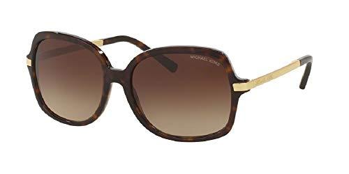 Michael Kors MK2024 ADRIANNA II Square 310613 57M Dark Tortoise/Brown Gradient Sunglasses For Women +FREE Complimentary Eyewear Care Kit