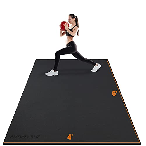 Large Exercise Mat 6'x4'x7mm Workout Mats for Home Gym Mats Gym...