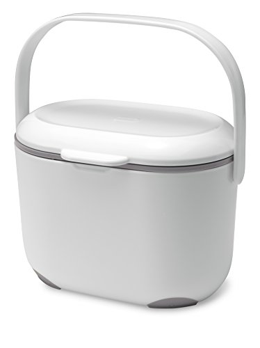 Addis 2,5 litros Cubo para Compost Kitchen, Blanco/Gris