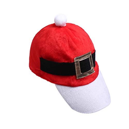 Holibanna Santa Baseball Cap KFC Catering Chef Christmas Hat Xmas Party Hat Christmas Accessory (1PC)