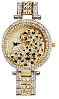 JINN-Women's Watches - Women Quartz Watch Fashion Bling Casual Ladies Watch Female Quartz Gold Watch Crystal Diamond Leopa...