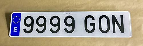 Gonplac Matrícula Acrílica Coche Homologada Alto Impacto 52 x 11 CM (Conjunto 2 Und)