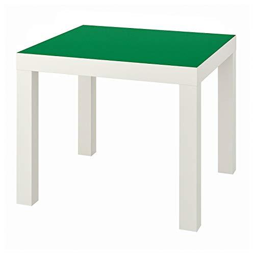 LACK - Mesa auxiliar pequeña de bajo peso, fácil de mover, 55 x 55 cm, 3 colores verde/blanco