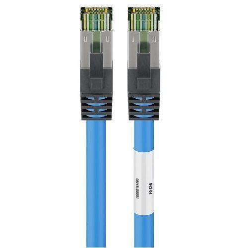 CABLEPELADO Cable de red SFTP CAT8 0.50 M Azul
