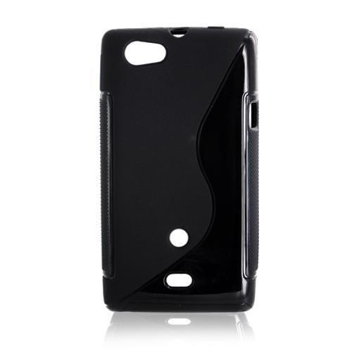MDA Foxchip Coque-Cover 2 in Minigel per Sony Xperia Miro Nero, 3610008950138