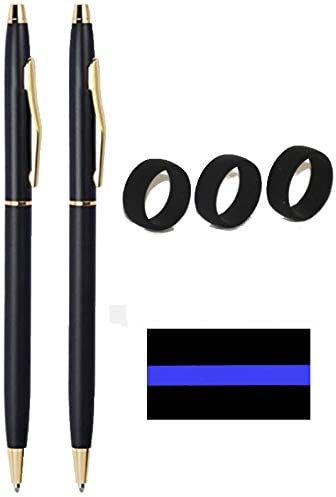 Classic Black and Gold Police Uniform Pens Police Gift Police Uniform Pen 3 Active Wear Silicone product image