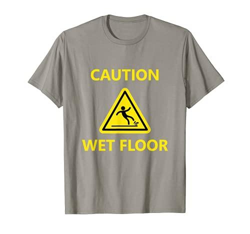 Símbolo de advertencia de la señal del suelo mojado de Camiseta