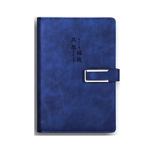 SUISHI Hardcover Ejecutive Notebook Hardcover con Cubierta de bolígrafo A5 Portátil clásico de 100/180 Hojas, Adecuado for Suministros de Oficina, útiles Escolares (Color : 3(180-sheet) A5 Dark Blue)