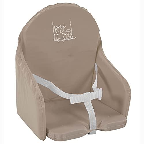 Looping - Cojín para silla de bebé, diseño de conejos Multicolor marrón