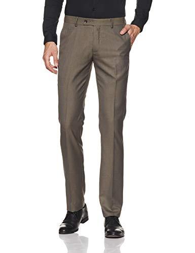 Arrow Men's Pleat-Front Formal Trousers (8907378737595_Me. Brown, 36)