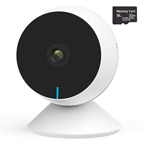 Babykamera WiFi 1080P FHD, M1 Babyphone mit Kamera mit Bewegungserkennung, 2-kanaliges-Audio, Nachtsicht - Smart Home Kamera Kompatibel mit Alexa, Google