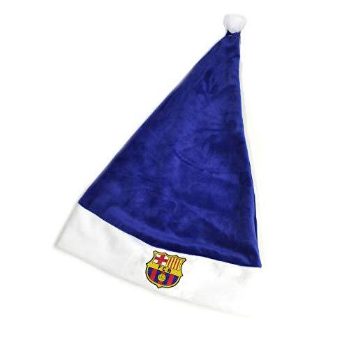 FC Barcelona Bonnet de Père Noël mixte adulte - Bleu - Taille Unique