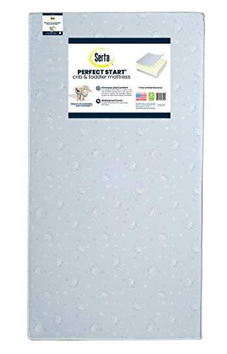 Serta Perfect Start Fiber Core Crib and Toddler Mattress...